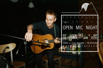 Open Mic Night - Last Thursday of Every Month / Photo credit: Calm Elliot Armstrong